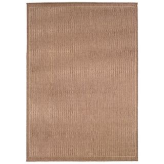 Couristan Recife Saddle Stitch Indoor/Outdoor Area Rug   Cocoa/Natural