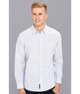DKNY Jeans L/S Banker Check Slim Fit Shirt City Press Mens Long Sleeve Button Up (Blue)