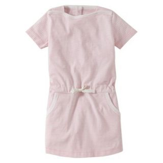 Burts Bees Baby Infant Girls Stripe Boatneck Dress   Blush/Cloud 18 M