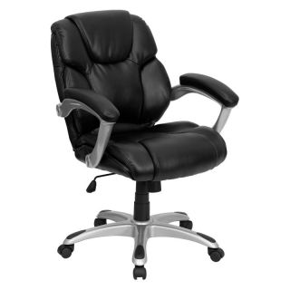Flash Furniture Mid Back Office Task Chair   Black   GO 931H MID BK GG