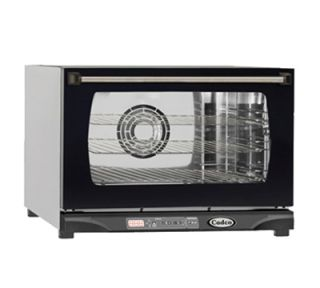Cadco LineChef Stefania Countertop Convection Oven   Holds (3) 1/2 Size Pans, Stainless, 120v