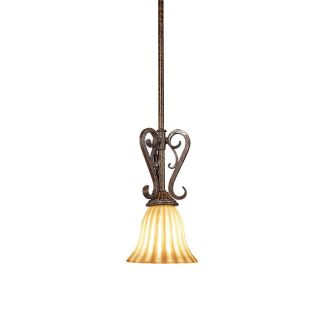 Woodbridge Lighting Avondale 1 light Rustic Iron Mini Pendant