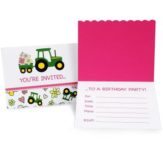 John Deere Pink Invitations
