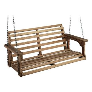 Beecham Swing Co. Roll Back Treated Wood Porch Swing Multicolor   10065