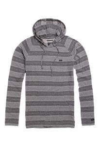 Mens Rvca Shirt   Rvca Tompkin Hooded Long Sleeve Shirt