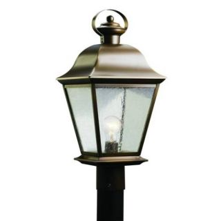 Kichler 9909OZ Outdoor Light, Classic (Formal Traditional) Post Mount 1 Light Fixture Olde Bronze