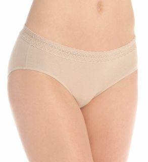 Hanes 41KLB5 Cotton Stretch Waistband Hipster Lace Panty 3 Pack