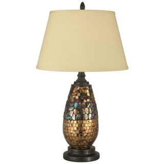 Dale Tiffany Antique Gold Mosaic Table Lamp