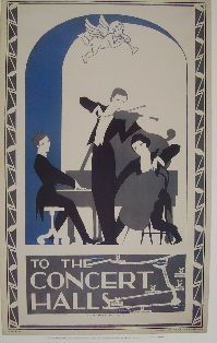 To the Concert Halls   Rare Reprint of Original London Transport