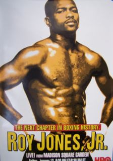 ROY JONES JR.   HBO BOXING PROMOTIONAL Poster
