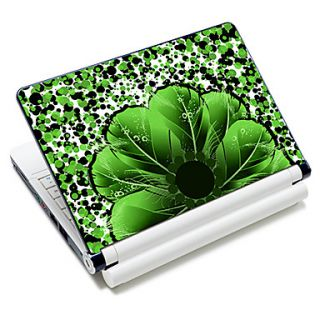 Flower Shape Feather Pattern Laptop Notebook Cover Protective Skin Sticker For 10/15 Laptop 18385