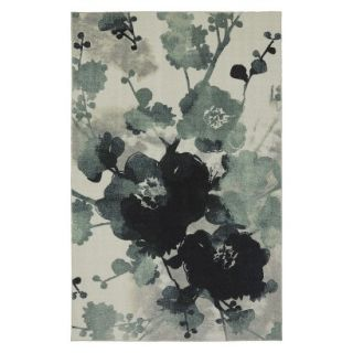 Mohawk Home Watercolor Floral Area Rug   Blue/Cream (5x7)