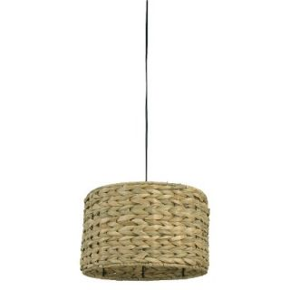 Mudhut Seagrass Ceiling Light   Brown (Includes CFL Bulb)