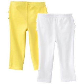 Just One YouMade by Carters Newborn Girls 2 Pack Pant   Yellow/White 12 M