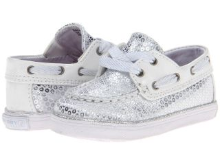 Sperry Top Sider Kids Bahama Crib Girls Shoes (White)