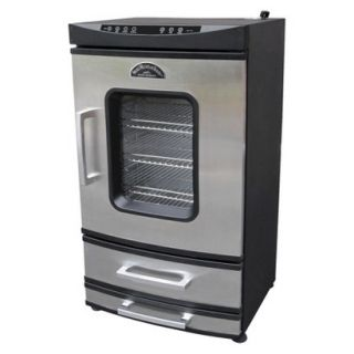 Landmann 40 Stainless Steel Electric Smoker with Two Drawers