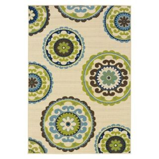 Samantha Medallion Indoor/Outdoor Area Rug (67x96)