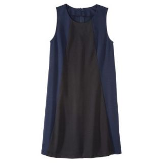 Mossimo Womens Colorblock Shift Dress   Xavier Navy/Black M