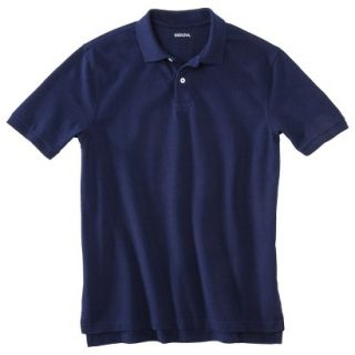 Mens Classic Fit Polo Shirt Navy Blue Vyg L