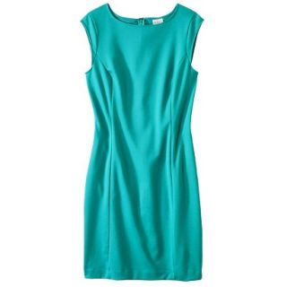 Merona Petites Sleeveless Ponte Sheath Dress   Coastal Green MP
