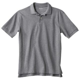 Mens Classic Fit Polo Shirt Heather Gray Grey MT