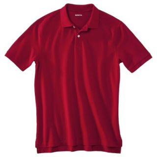 Mens Classic Fit Polo Shirt Carmen Red L Tall