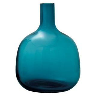 Bolo Glass Vase   Turquoise 10.75 by Torre & Tagus