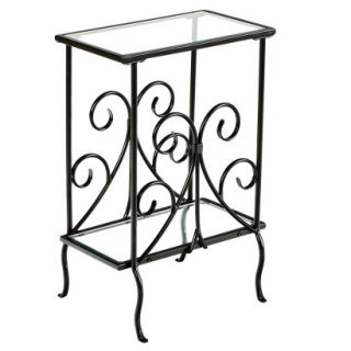 Accent Table Southern Enterprises Contemporary Scroll Magazine Table