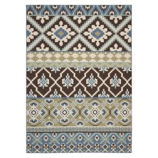 Safavieh Lana Indoor/Outdoor Area Rug   Chocolate/Blue (8x112)