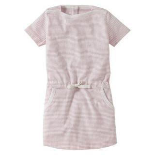 Burts Bees Baby Infant Girls Stripe Boatneck Dress   Blush/Cloud 6 9 M