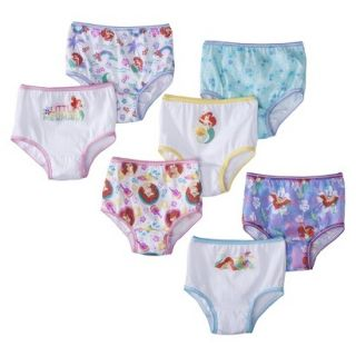 Disney Toddler Girls 7 Pack Ariel Briefs 2T/3T