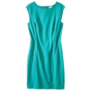 Merona Womens Ponte Sheath Dress   Coastal Green   L