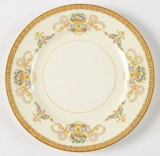Alfred Meakin Festive Salad Plate, Fine China Dinnerware   Floral Bouquets, Brow