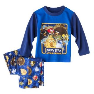Angry Birds Toddler Boys 2 Piece Long Sleeve Pajama Set   Blue 2T