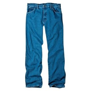 Dickies Mens Relaxed Fit Jean   Stone Washed Blue 33x34