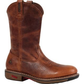 Rocky Ride 11In. Waterproof Western Boot   Palomino, Size 8 1/2 Wide, Model 4181
