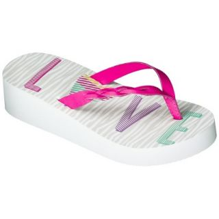 Girls Circo Hyla Wedge Flip Flop Sandals   White L