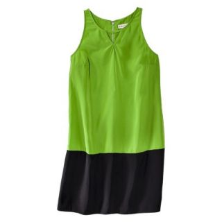 Merona Womens Colorblock Hem Shift Dress   Zuna Green/Black   14