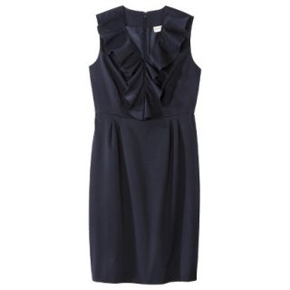 Merona Petites Sleeveless Sheath Dress   Blue 8P