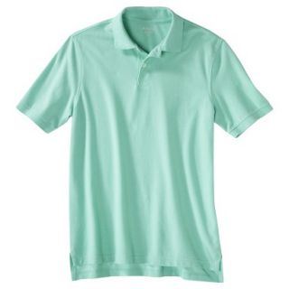 Mens Classic Fit Polo Shirt Light Blue Water Slide L