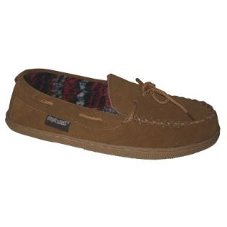 Mens Muk Luks Berber Suede Moccasin Slipper  Tan 9