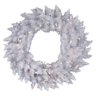 Pre Lit Spruce Wreath   Clear Lights (36)