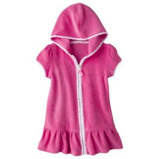 Circo Infant Toddler Girls Hooded Cover Up Dress   Pink 3T