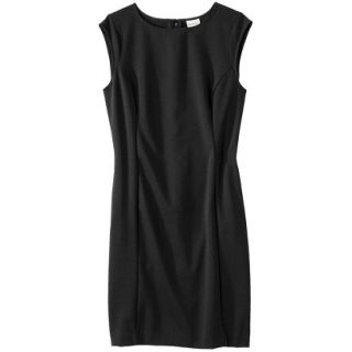 Merona Petites Sleeveless Ponte Sheath Dress   Black XLP