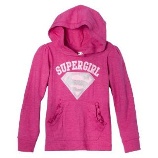 Supergirl Infant Toddler Girls Long Sleeve Hooded Tee   Pink 12 M