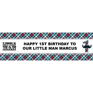 Little Man Mustache 1st Birthday Personalized Banner