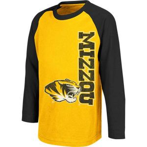 Missouri Tigers Colosseum NCAA Kids Warrior Long Sleeve Raglan T Shirt