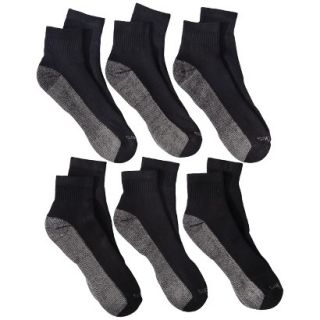 Dickies Mens 6pk Dri Tech Ankle Socks   Black