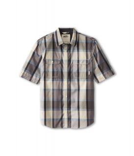 Vans Kids Averill S/S Shirt Boys Short Sleeve Button Up (Gray)