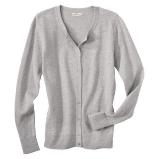 Merona Womens Ultimate Long Sleeve Crew Neck Cardigan   Heather Gray   S